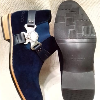 Chaussures bleues Gucci
